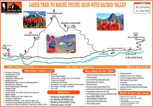 Mapa Lares Trek to machu picchu 3 days sam travel peru hiking pisac sacred valley